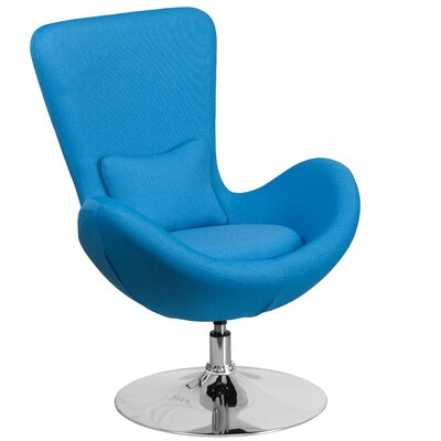 Egg Series Lounge Chair Seat Color: Aqua