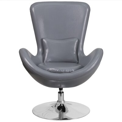 Egg Series Leather Lounge Chair Seat Color: Gray