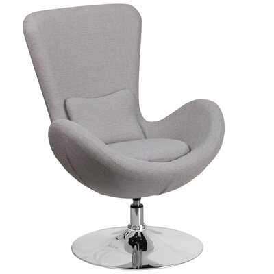 Egg Series Lounge Chair Seat Color: Light Gray