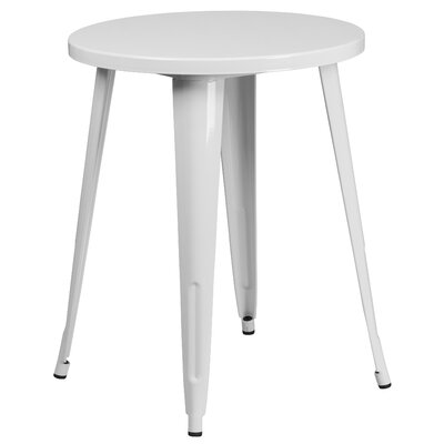 Bistro Table Table Size: 24 L x 24 W, Finish: White