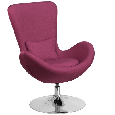 Egg Series Lounge Chair Seat Color: Magenta