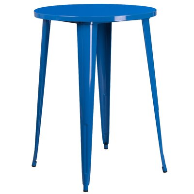 Bar Table Finish: Blue, Table Size: 30 L x 30 W