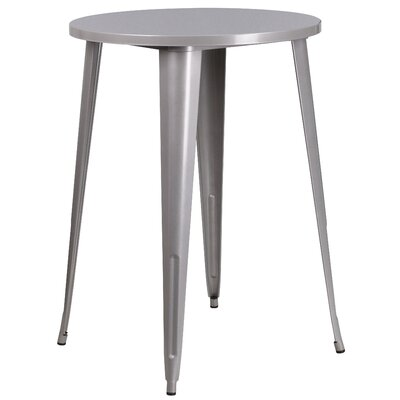 Bar Table Finish: Silver, Table Size: 30 L x 30 W