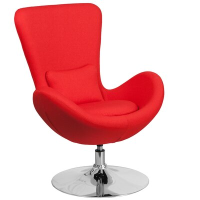 Palisades Lounge Chair Seat Color: Red