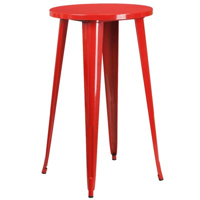 Bar Table Table Size: 24 L x 24 W, Finish: Red