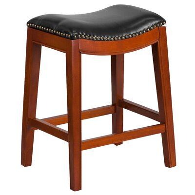 Alice 26 Bar Stool Color: Cherry Wood