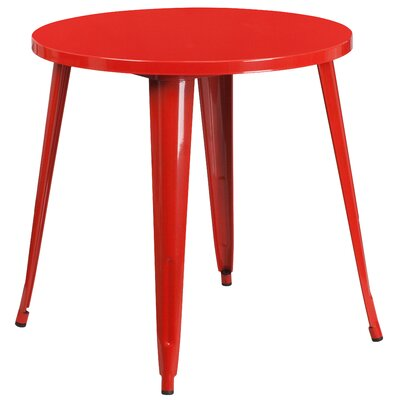 Bistro Table Finish: Red, Table Size: 30 L x 30 W