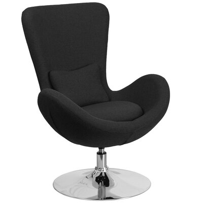 Egg Series Lounge Chair Seat Color: Black