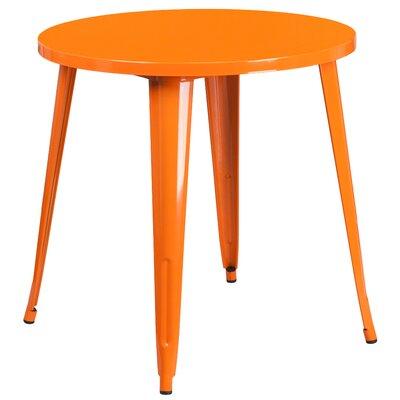 Bistro Table Finish: Orange, Table Size: 30 L x 30 W