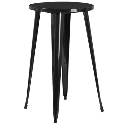 Bar Table Finish: Black, Table Size: 24 L x 24 W