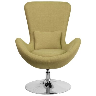 Egg Series Lounge Chair Seat Color: Green