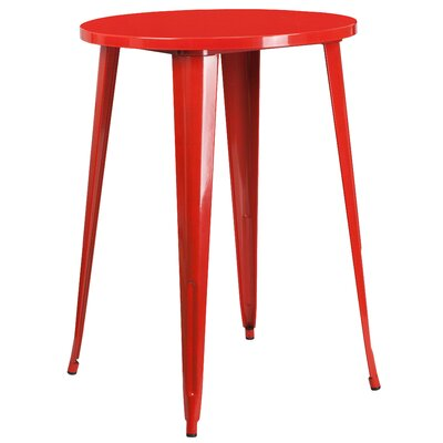 Bar Table Finish: Red, Table Size: 30 L x 30 W