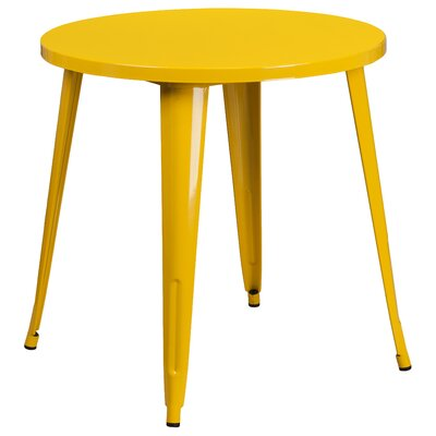 Bistro Table Finish: Yellow, Table Size: 30 L x 30 W