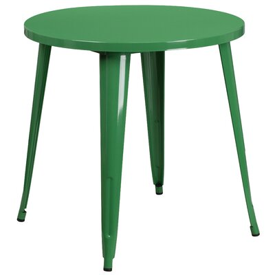 Bistro Table Finish: Green, Table Size: 30 L x 30 W