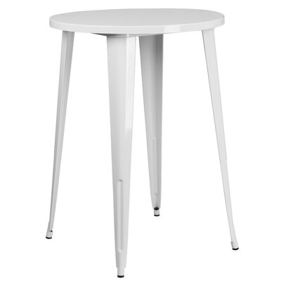 Bar Table Finish: White, Table Size: 30 L x 30 W