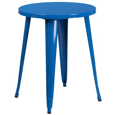 Bistro Table Table Size: 24 L x 24 W, Finish: Blue