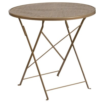 Folding Bistro Table Color: Gold