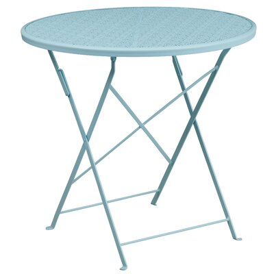 Folding Bistro Table Color: Sky Blue