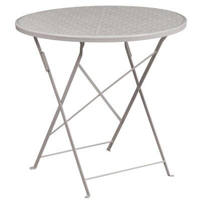 Folding Bistro Table Color: Light Gray