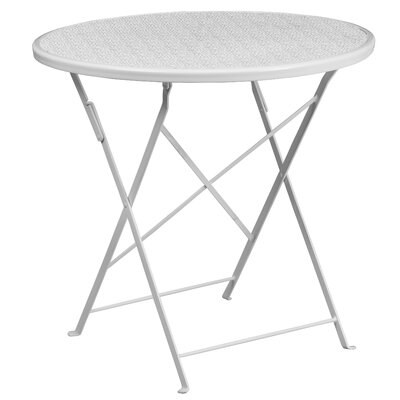 Folding Bistro Table Color: White