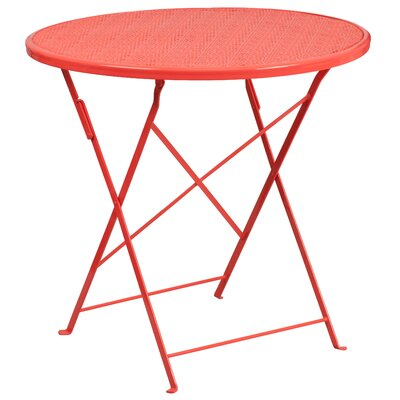 Folding Bistro Table Color: Coral