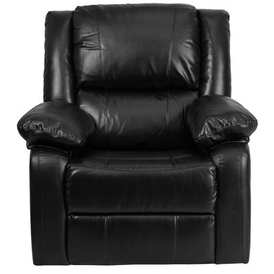 Chalfont Manual Recliner Upholstery: Black