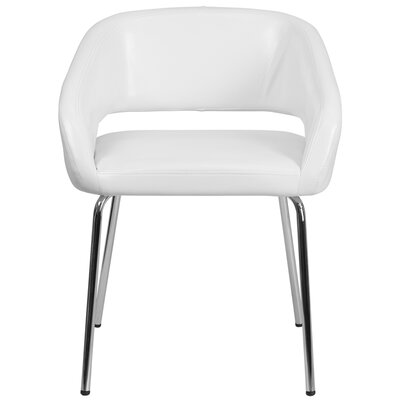Fusion Series Contemporary Lounge Chair Seat Color: White