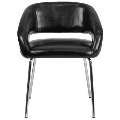 Fusion Series Contemporary Lounge Chair Seat Color: Black