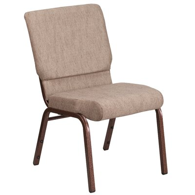 MacArthur Contemporary Guest Chair Seat Finish: Cinnamon, Finish: Gold