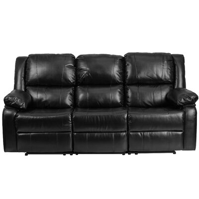 Harmony Series Reclining Sofa Upholstery: Black