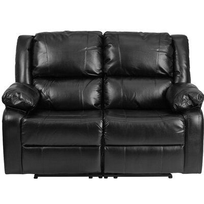 Harben Reclining Loveseat Upholstery: Black