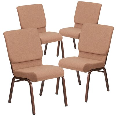 MacArthur Contemporary Guest chair with Fabric Seat Seat Finish: Brown