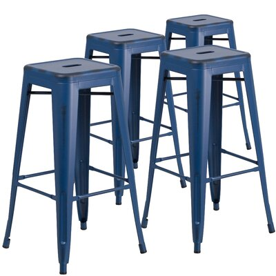 Hacker 30 Bar Stool Finish: Antique Blue