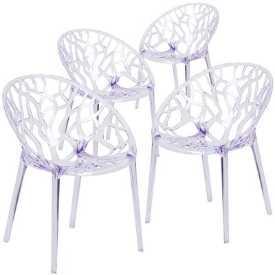 Armless Specter Series Transparent Stacking Chair
