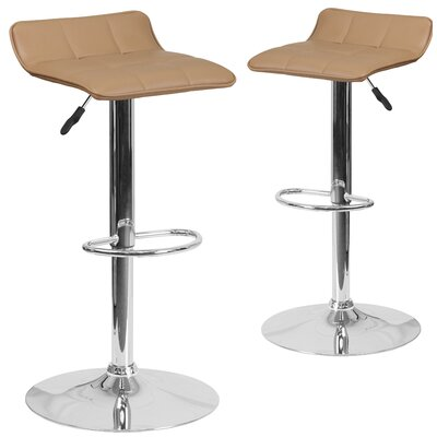 Nuno Adjustable Height Swivel Bar Stool Upholstery: Cappuccino