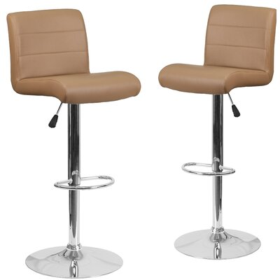 Nusbaum Adjustable Height Swivel Bar Stool Upholstery: Cappuccino