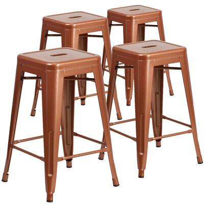 24 inch Bar Stool Finish: Copper