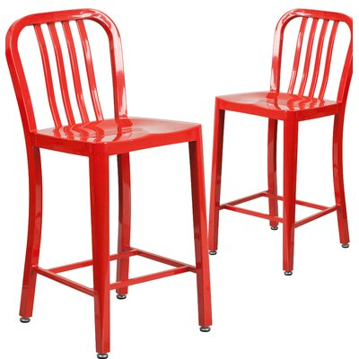 Fitzgerald 24 Bar Stool Finish: Red
