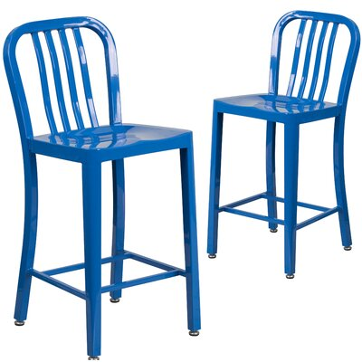 24 Bar Stool Finish: Blue