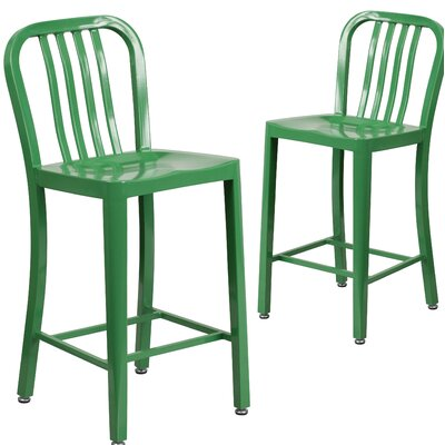 Fitzgerald 24 Bar Stool Finish: Green