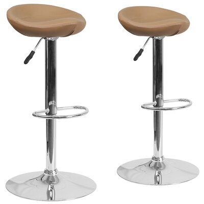 Nutting Adjustable Height Swivel Bar Stool Upholstery: Cappuccino