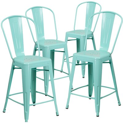 Haefner 24 Bar Stool Finish: Mint Green