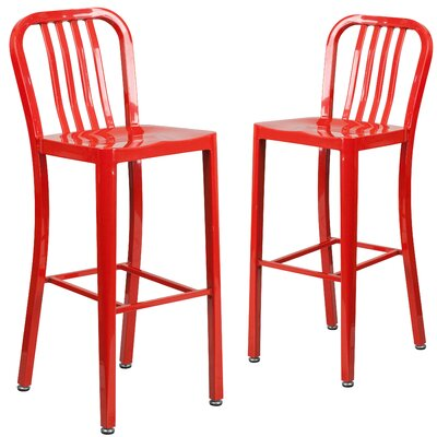 Fairmount 30 Bar Stool Finish: Red