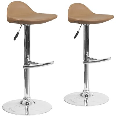 Adjustable Height Swivel Bar Stool Upholstery: Cappuccino