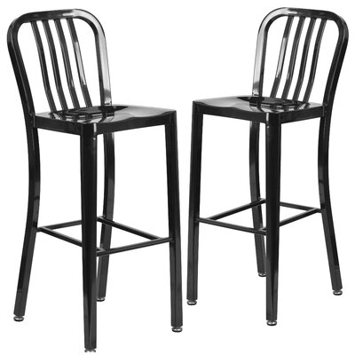 Fairmount 30 Bar Stool Finish: Black