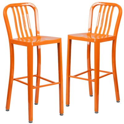 Fairmount 30 Bar Stool Finish: Orange