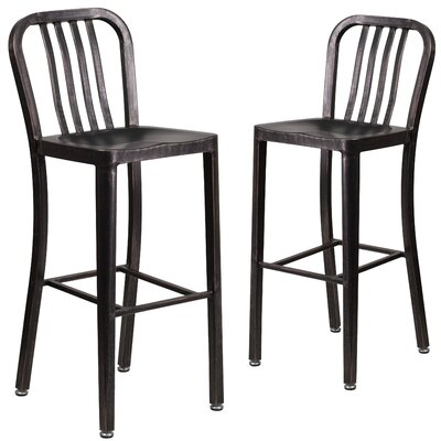 Fairmount 30 Bar Stool Finish: Black/Antique Gold