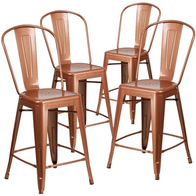 Haefner 24 Bar Stool Finish: Copper