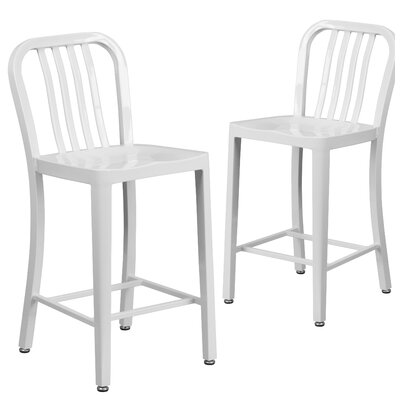 Fitzgerald 24 Bar Stool Finish: White
