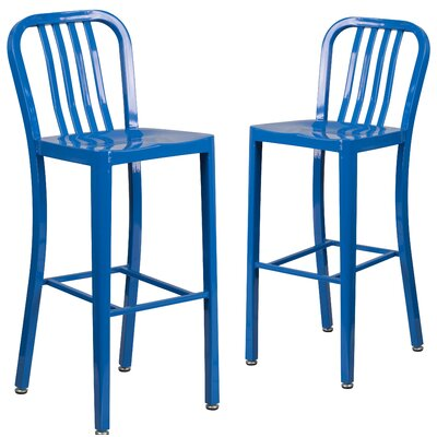 Fairmount 30 Bar Stool Finish: Blue